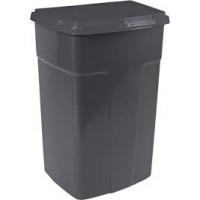 Бак мусорный Алеана 90л, темно-серый (122062)