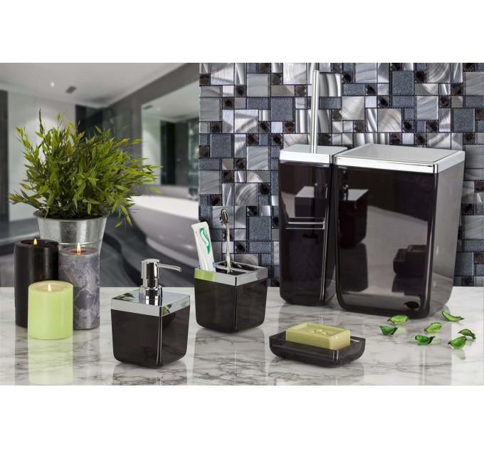 Набор аксессуаров в ванную комнату Prima Nova TOSCANA, прозрачный черный (SAS01-25)