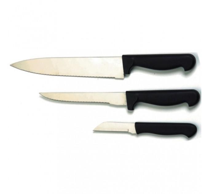 Набор ножей кухонных Fackelmann 17 см, 27 см, 32 см, сталь/пластик (643257) - фото № 1