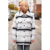 Пальто-рубашка шесть Италия Ментол (V03-01/1)