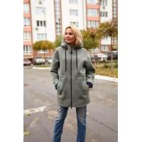 Куртка из шерсти двухсторонней Green меланж (V03-07)