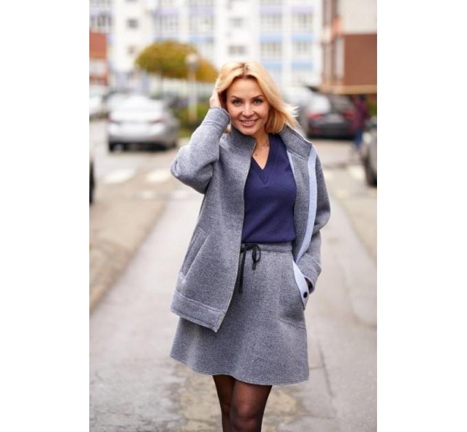 Куртка из шерсти на флисе Италия Lavanda (V03-04/1-K) - фото № 3