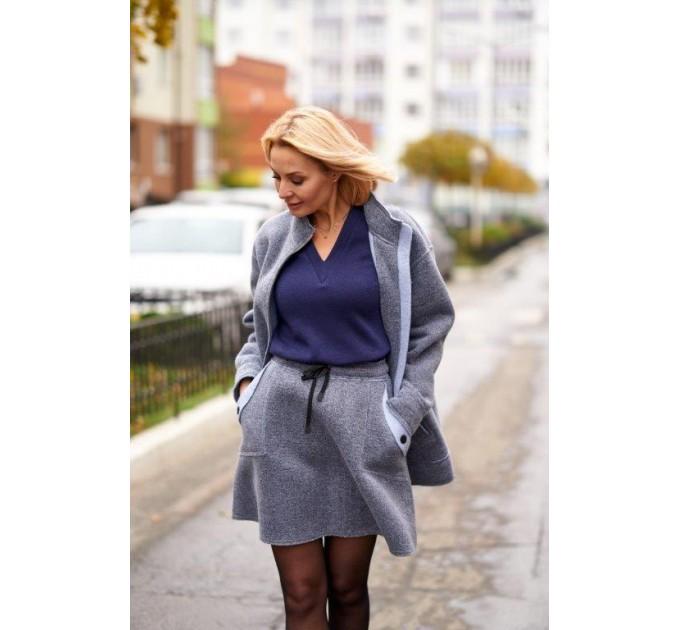 Куртка из шерсти на флисе Италия Lavanda (V03-04/1-K) - фото № 4
