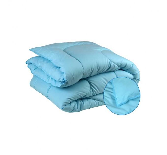 Одеяло РУНО 200х220 силиконовое 300 г/м2, голубой - фото № 1