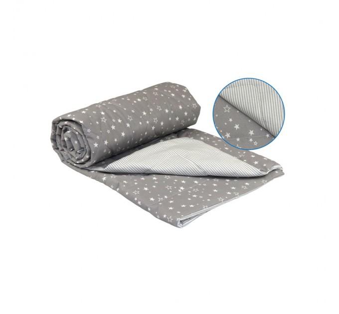 """Одеяло РУНО 172х205 """"Grey"""", хлопковое - фото № 1"""