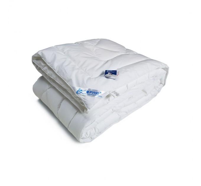 Одеяло РУНО 172х205 искусственный лебяжий пух 420 г/м2, чехол тик - фото № 1