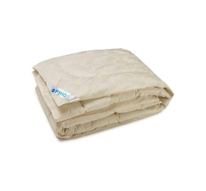 Одеяло РУНО 200х220 силиконовое 300 г/м2, чехол бязь, молочный - фото № 1