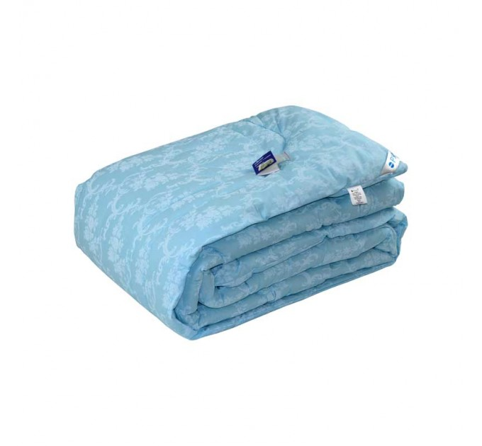 """Одеяло 200х220 шерстяное """"Голубой вензель"""" - фото № 1"""