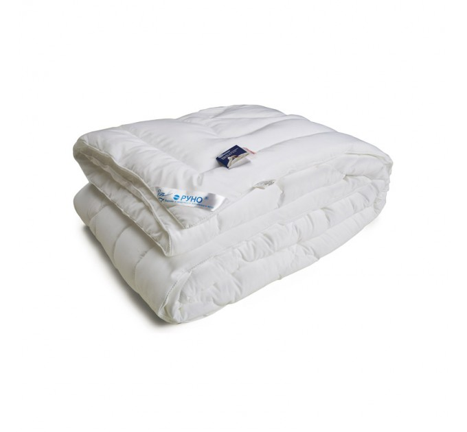 Одеяло РУНО 172х205 искусственный лебяжий пух 420 г/м2, чехол микрофайбер - фото № 1