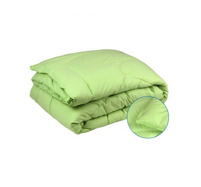 Одеяло РУНО 140х205 силиконовое, салатовый - фото № 1
