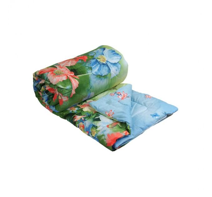 "Одеяло 200х220 шерстяное ""Summer flowers"" - фото № 1"