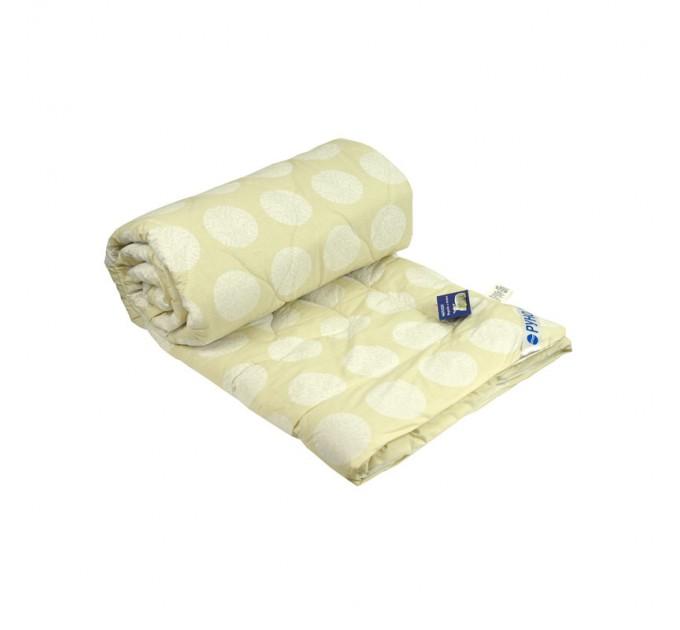 Одеяло РУНО 140х205 шерстяное 160 гр/м2, плотность чехла 100, молочный - фото № 1