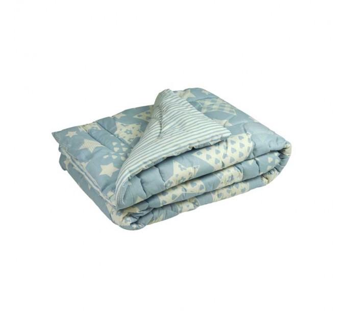 """Одеяло РУНО 172х205 """"Blue star"""", шерстяное - фото № 1"""