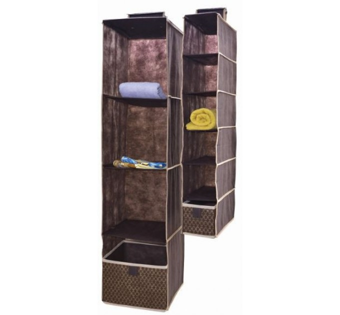 Органайзер Тарлев вертикальный 4 уровня 30*30*84см с ящиком 28*27*20см 1шт, Brown (4608)