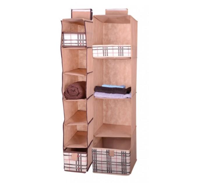 Органайзер Тарлев вертикальный 6 уровней 15*30*84см с ящиком 13*27*12,5см 1шт, Beige (4409)