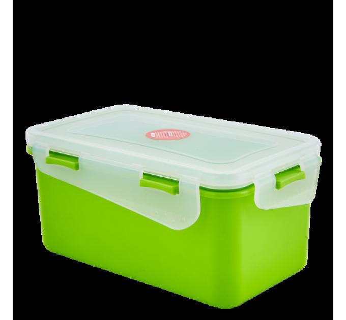 Контейнер универсальный Алеана Фиеста прямоугольный 1.5л, оливковый/прозрачный (168042) - фото № 1