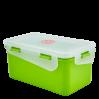 Контейнер универсальный Алеана Фиеста прямоугольный 1.5л, оливковый/прозрачный (168042)