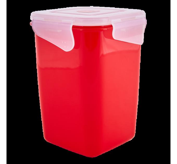 Контейнер универсальный Алеана Фиеста глубокий 1л, красный бархат/прозрачный (168051) - фото № 1