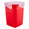 Контейнер универсальный Алеана Фиеста глубокий 1л, красный бархат/прозрачный (168051)