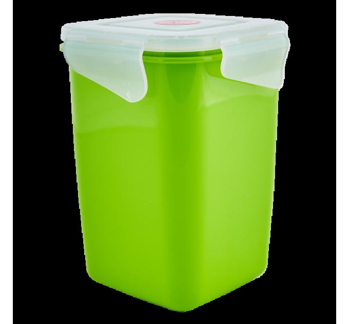 Контейнер универсальный Алеана Фиеста глубокий 1л, оливковый/прозрачный (168051) - фото № 1