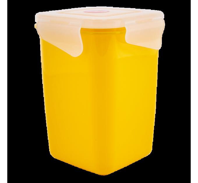 Контейнер универсальный Алеана Фиеста глубокий 1л, темно-желтый/прозрачный (168051) - фото № 1