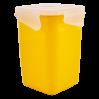 Контейнер универсальный Алеана Фиеста глубокий 1л, темно-желтый/прозрачный (168051)