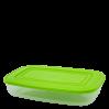 Контейнер для пищевых продуктов Алеана прямоугольный 0.95л, прозрачный/оливковый (167023)