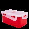 Контейнер универсальный Алеана Фиеста прямоугольный 4л красный бархат/прозрачный (168044)