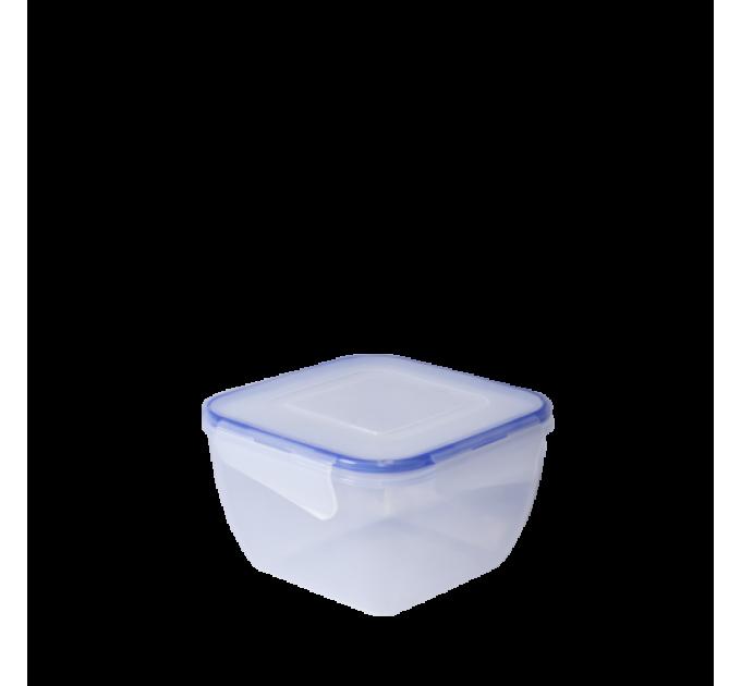 Контейнер для пищевых продуктов с зажимом Алеана квадратный 1.5л (167053) - фото № 1