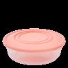 Контейнер для пищевых продуктов Алеана круглый 0.55л, прозрачный/абрикосовый (167033)