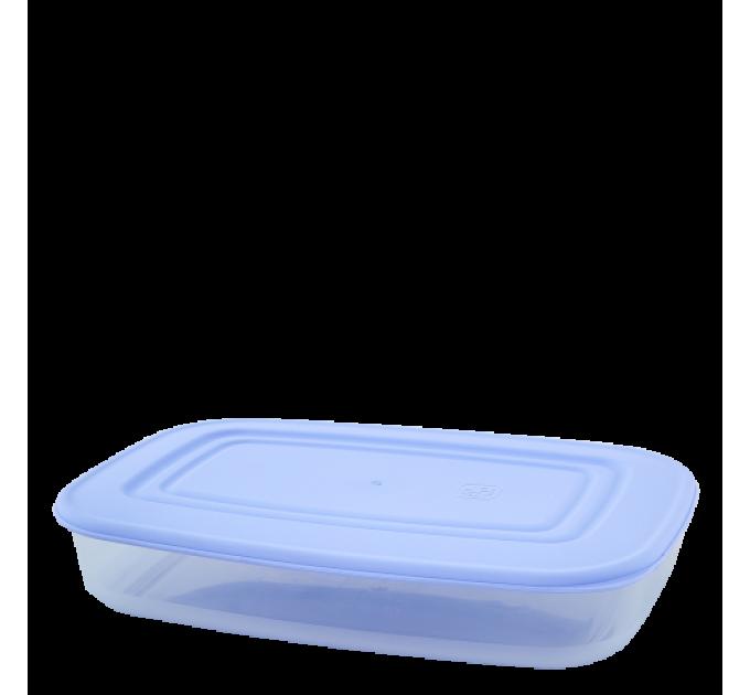 Контейнер для пищевых продуктов Алеана прямоугольный 1.5л, прозрачный/сиреневый (167024) - фото № 1