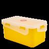 Контейнер универсальный Алеана Фиеста прямоугольный 4л, темно-желтый/прозрачный (168044)