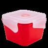 Контейнер универсальный Алеана Фиеста квадратный 0.45л, красный бархат/прозрачный (168059)