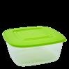 Контейнер для пищевых продуктов Алеана квадратный 0.93л, прозрачный/оливковый (167015)