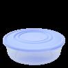 Контейнер для пищевых продуктов Алеана круглый 0.55л, прозрачный/сиреневый (167033)