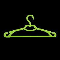 Плечики для одежды Алеана набор 5 шт, оливковые (121073)