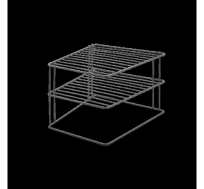 Полка угловая 25*25*19см PALIO LAVA Metaltex, черный (361302) - фото № 1