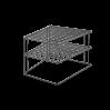 Полка угловая 25*25*19см PALIO LAVA Metaltex, черный (361302)