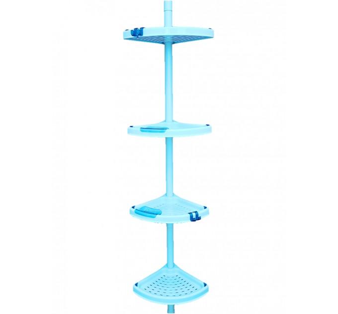 Полка в ванную угловая Prima Nova, голубая (N02-02)