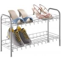 Полка для обуви 2-ух уровневая 64*23*37см Metaltex, серебристый (938007)