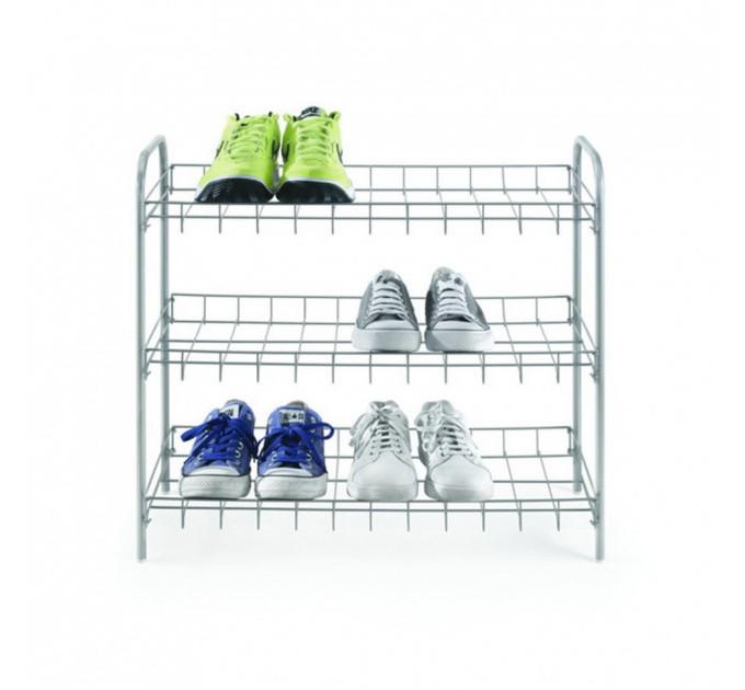 Полка для обуви 3-х уровневая 64*23*59см SHOE3 Metaltex, серебристый (938008) - фото № 1