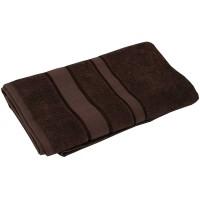 Полотенце махровое РУНО 50x90, коричневый