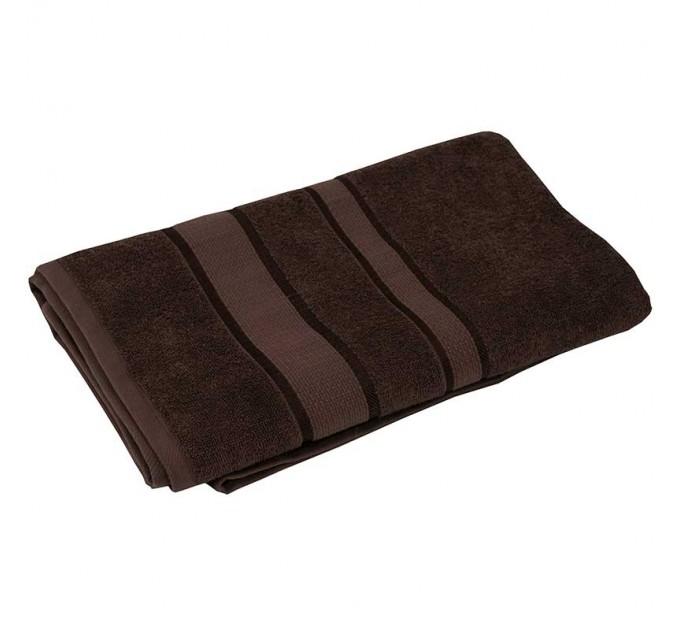 Полотенце махровое РУНО 50x90, коричневый - фото № 1