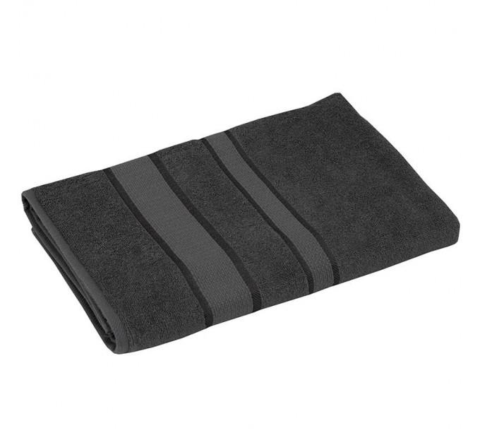 Полотенце махровое РУНО 50x90, серый - фото № 1