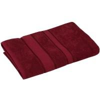 Полотенце махровое РУНО 70x140, бордовый