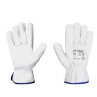 Рабочие перчатки Mover CRUZE из мягкой кожи 12 пар/уп, белый (212)