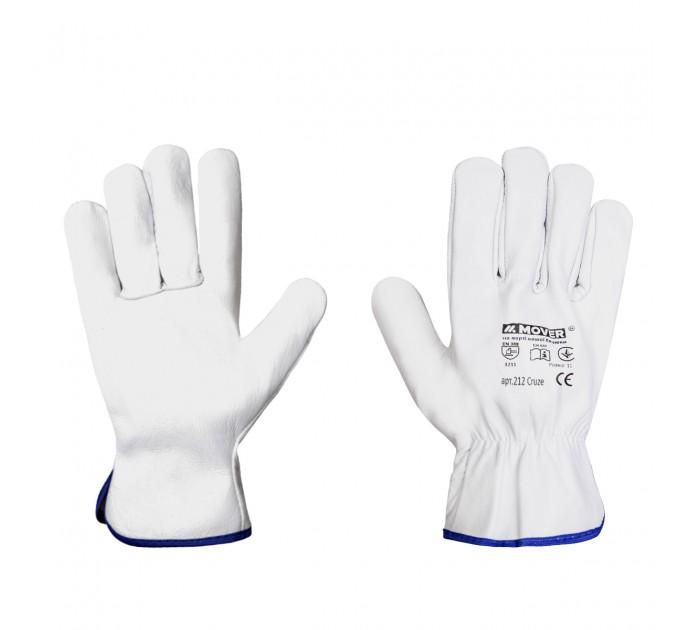 Рабочие перчатки Mover CRUZE из мягкой кожи, белый (212) - фото № 1