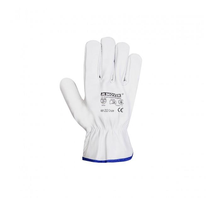 Рабочие перчатки Mover CRUZE из мягкой кожи, белый (212) - фото № 3