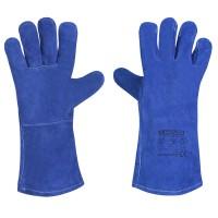 Перчатки краги сварщика Mover DRAGON FLAME спилок 10 пар/уп, синий (213)