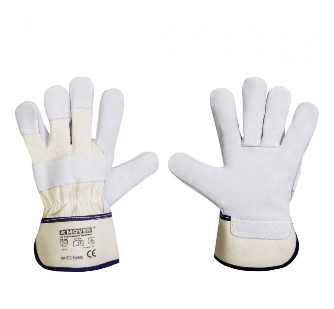 Рабочие перчатки Mover FOREST спилок, серый (211) - фото № 1